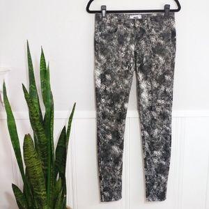 Paige Verdugo Ultra Skinny Black Feather Jeans